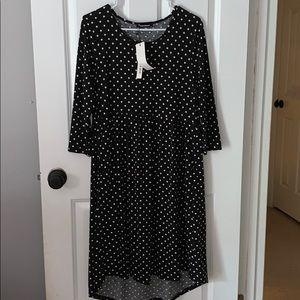 Justalwart black polka dot dress